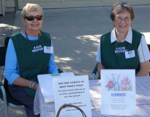 AAUW Greeters at the Garden Tour